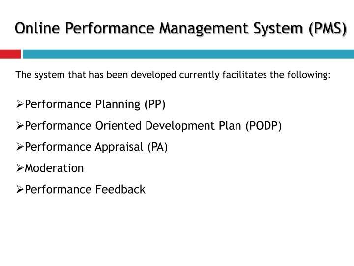 Online Performance Management System (PMS)