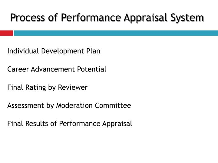 Process of Performance Appraisal System