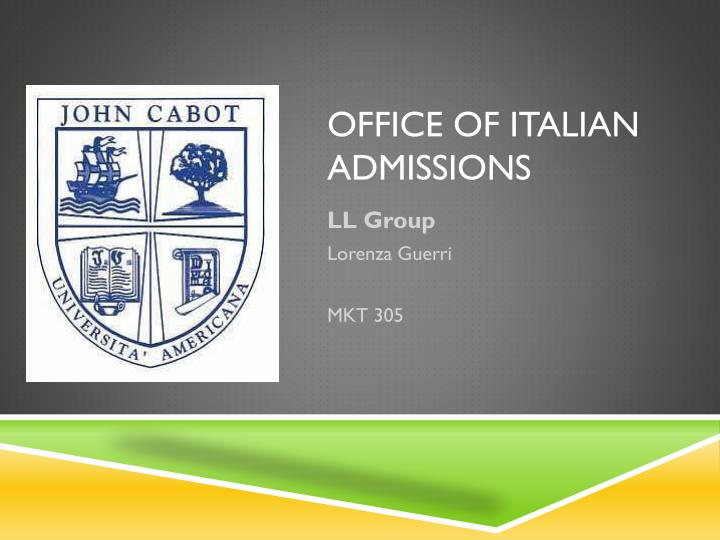 office of italian admissions n.