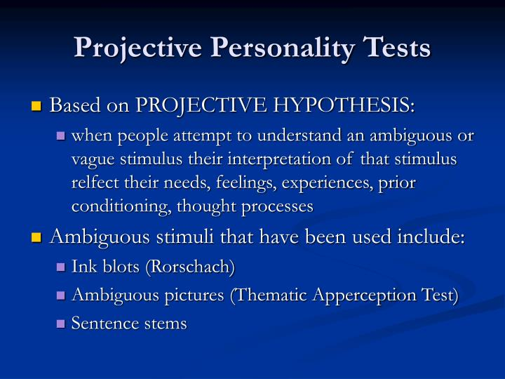 essay on personality test