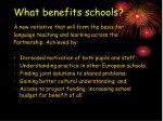 what benefits schools