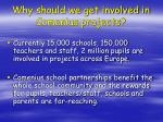 why should we get involved in comenius projects