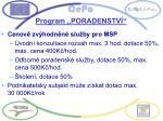 program poradenstv
