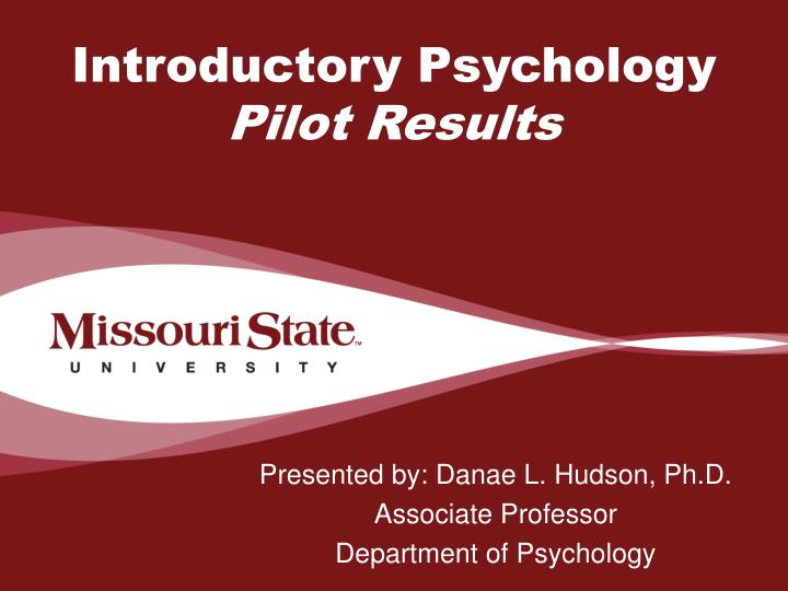 introductory psychology pilot results n.