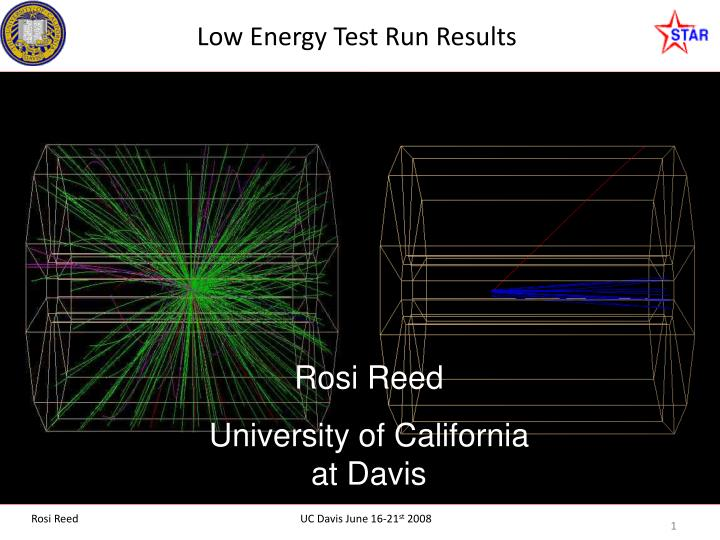 low energy test run results n.