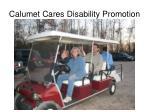 calumet cares disability promotion
