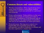 common threats and vulnerabilities1