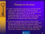 planning for the future1