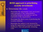 rosi approach to prioritizing security investments1