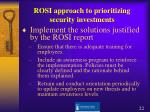 rosi approach to prioritizing security investments3