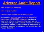 adverse audit report