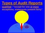 types of audit reports1