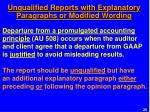 unqualified reports with explanatory paragraphs or modified wording2