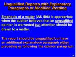 unqualified reports with explanatory paragraphs or modified wording3