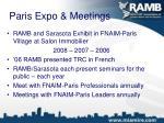 paris expo meetings