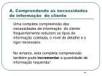 a comprendendo as necessidades de informa o do cliente1