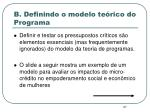 b definindo o modelo te rico do programa1