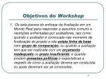 objetivos do workshop