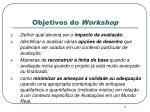 objetivos do workshop1