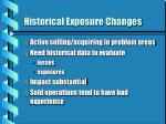 historical exposure changes