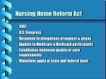 nursing home reform act