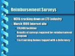 reimbursement surveys