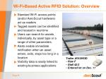 wi fi based active rfid solution overview