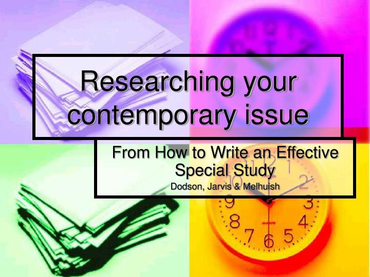 researching your contemporary issue n.