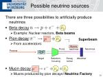 possible neutrino sources
