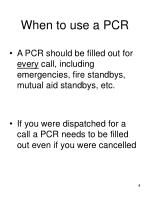 when to use a pcr