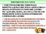 differenze sui costi