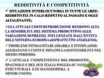 redditivit e competitivit