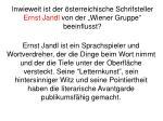inwieweit ist der sterreichische schrifsteller ernst jandl von der wiener gruppe beeinflusst