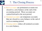 7 the closing process