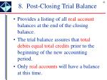 8 post closing trial balance