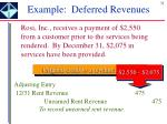 example deferred revenues