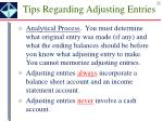 tips regarding adjusting entries