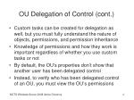 ou delegation of control cont