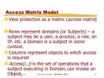 access matrix model