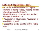 acls and capabilities cont