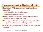 segmentation architecture cont