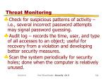 threat monitoring