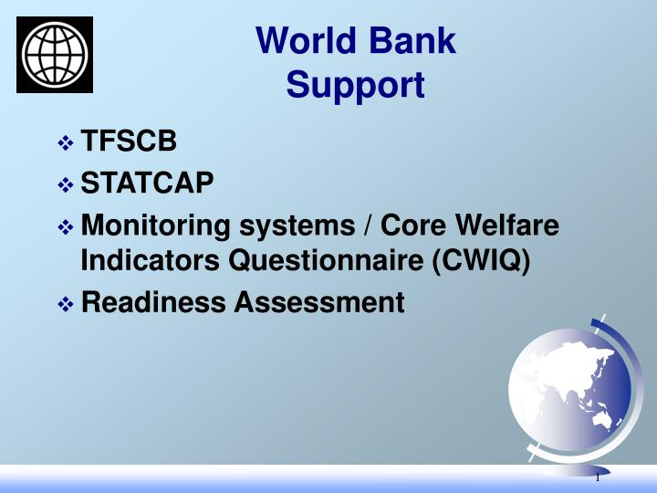world bank support n.