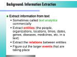 background information extraction