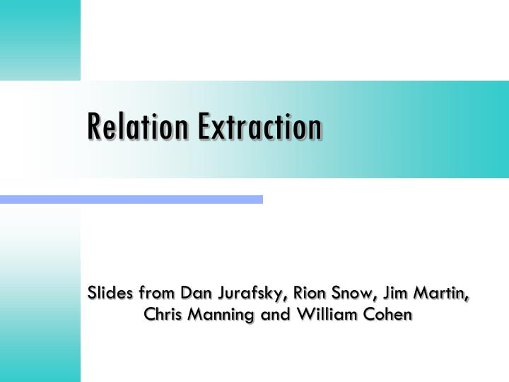 relation extraction n.