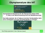 olympiaanalyse des iat