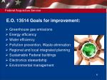 e o 13514 goals for improvement
