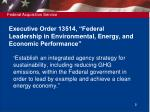 executive order 13514 federal leadership in environmental energy and economic performance