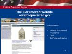 the biopreferred website www biopreferred gov