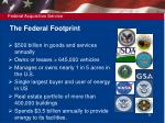 the federal footprint